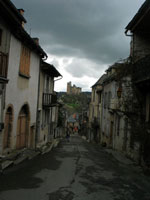 Najac - the chateau in the distance