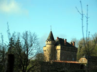 Najac - a chateau on the road down