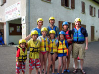 Najac - canoeists at the ready