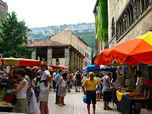 Saint Antonin Noble Val - our local medieval village - Sunday is Market Day